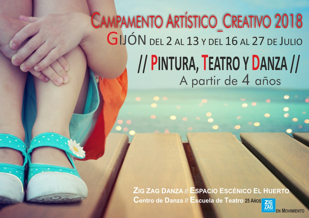 Campamento artístico y creativo de verano. Zig Zag Danza.