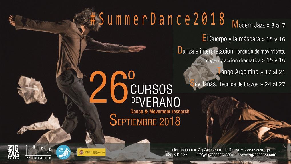 Programa cursos de Verano 2017. Summerdance 2017. Zig Zag Danza.